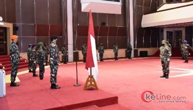 Panglima TNI, Marsekal TNI Hadi Tjahjanto, S.I.P Pimpin 25 Perwira Tinggi TNI Naik Pangkat