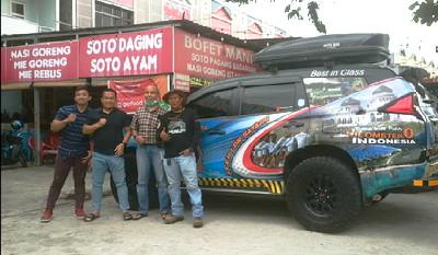 Komunitas Pajero Sport Family Chapter Riau Lepas Touring Aceh-Bali