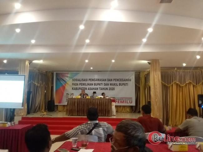 Bawaslu Asahan Gelar Acara Sosialisasi Pemilihan Bupati dan Wakil Bupati Kabupaten Asahan Tahun 2020