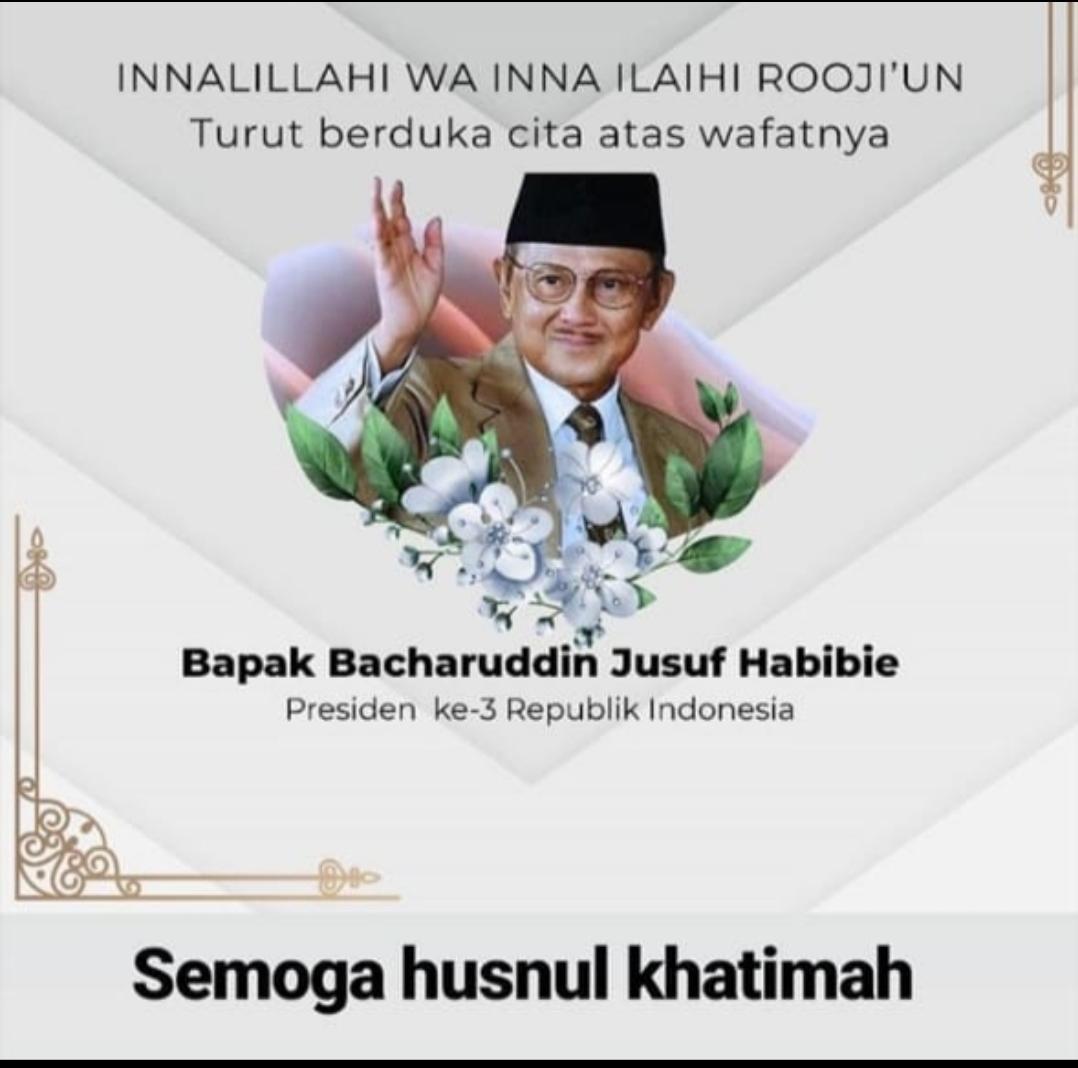 BJ Habibie Tutup Usia, Kepala Perwakilan Okeline.com Babel dan Jajaran Turut Berbela Sungkawa