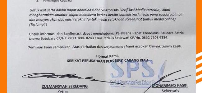 Perbedaan Tupoksi Antara SPS Riau dan SPS Pusat