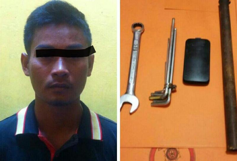 Pencuri Komponen Alat Berat Ditangkap di Damai Langgeng