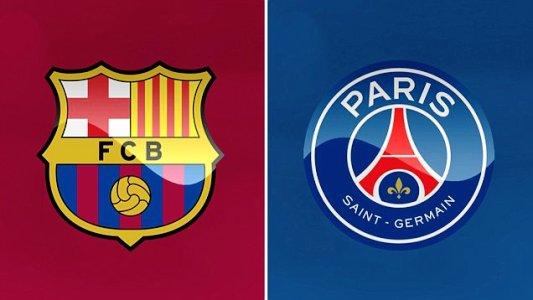 Hasil gambar untuk barcelona vs psg logo