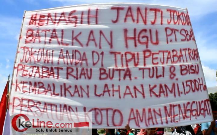 Tagih Janji Jokowi Selesaikan Sengketa Lahan Desa Koto Aman