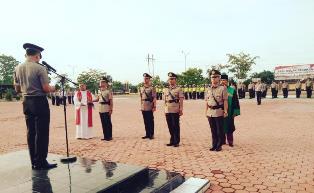 Kapolres Rohil Pimpin  Sertijab Tiga Pejabat Perwira.