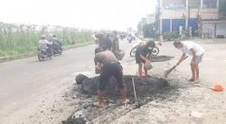 DPU Kota Tangsel Bantah Buang Limbah Hotmix di Jalan Pondok Cabe Raya