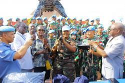 Satgas TNI Konga XXXIX-ARDB Serahkan Senjata dan Munisi Ke DDR-RR Kongo