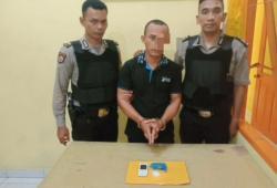 Polsek Panipahan Ciduk Seorang Kurir Sabu Warga Tanjung Balai Asahan