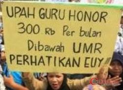 Gawat Bah,! Gaji Tenaga Guru Honor & Operator Diasahan Masih Minim