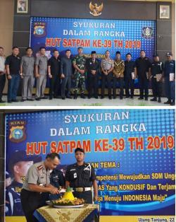 HUT Satpam Ke- 39 Polres Rohil Serahkan  Penghargaan Kepada Security Berprestasi