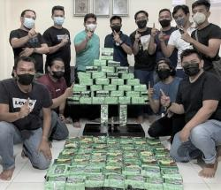 Polda Riau Tangkap 2 Pengedar Narkoba dan 81 Kg Sabu
