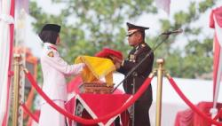 Upacara Penurunan Bendera HUT RI Ke-74 2019 Sempurna