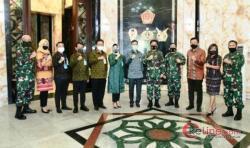 Dirut BNI Baru Silaturahmi dengan Panglima TNI