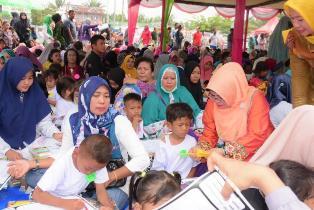 Antusias Anak-Anak PAUD ikuti Lomba Mewarnai di Kecamatan Tapung