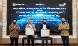 BRI Tandatangani Nota Kesepahaman dengan PT Telkom Terkait Teknologi Berbasis Satelit