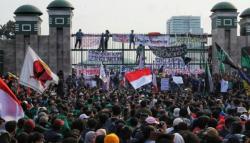 Mahasiswa Ancam Akan Kembali Demo Jika Jokowi Tetap Mengeluarkan Perppu KPK
