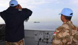 KRI Sultan Hasanuddin 366 dan Angkatan Laut Lebanon Latihan SOP Penyelamatan SAR Bersama
