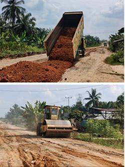 Peduli Jalan Rusak , PKS PT. MASS Perbaiki Jalan Annas Maamun