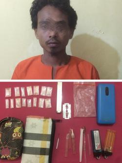 Diduga Jadi Pengedar , Seorang Buruh Sawit di Bekuk Sat Narkoba Polres Rohil