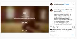 Postingan Gatot di Instagram Maslah Corona di Masjid Dapat tangapan Beragam