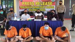 Polres Rohil Musnahkan Barang Bukti Sabu Sabu,Hasil Pengungkapan 3 Perkara dalam1 Minggu