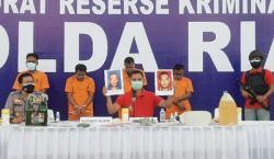 Empat Pelaku Molotov Wartawan di Kampar Dibekuk Tim Polda Riau