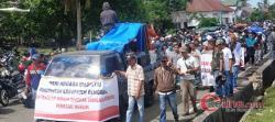 Terkait Dana Desa Bakal Macet, Sadam Demo ke Kantor DPRD Bengkalis