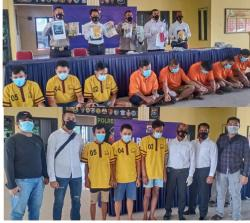 Polres Rohil Berhasil Ungkap Kasus Pembobolan Mesin ATM dan Narkotika