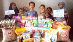 Rumah Yatim Riau Salurkan Bantuan Donatur Pada Janda Beranak 6