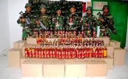 Satgas Yonif MR 411 Kostrad Amankan 2.040 Botol Miras Illegal
