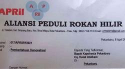 """""""APRiL"""" Rencana Demo, Kejati Riau Siap-siap Kasus TPK Dermaga Bagansiapiapi Diungkit"""