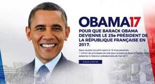 Obama 2017 Ajakan Warga Prancis Teken Petisi Jadi Presidennya