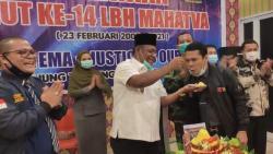 """Wakil Bupati Rohil Hadiri HUT Ke- 14  LBH Mahatva, """" Kalna Surya Siregar, Semoga Lebih Baik Kedepan"""