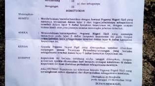 Dapat Surat Kepala BKPP Bengkalis Kepsek SD Bantan Nyaris Pingsan