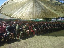 Satgas Pamtas RI-PNG Yonif Raider 514 Terima Pengarahan Panglima TNI
