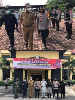 Bupati Rohil Pimpin Apel Gelar Pasukan Ketupat Lancang Kuning 2021