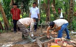 """Gerindra Padangpariaman Motori """"Keroyok"""" Bangun Rumah Simiskin di Kayu Tanam"""