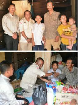 Peduli Warga Tidak Mampu, Komunitas Foto Rokan Bantu Satu Keluarga Di Rimbo Melintang