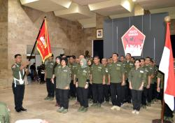 Kapusjarah TNI Lantik 46 Pengurus Komunitas Genta Bangsa 2020-2025