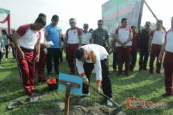 Kapolres Asahan Tanam 200 Pohon, Pemerintah Asahan Berikan Apresiasi
