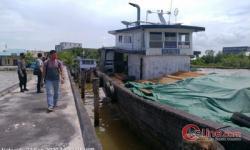 Satu Kapal Kayu Ilegal Diamankan Polres Bengkalis