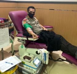 Serdik Sespimmen Dikrek 60 Jose DC Fernandes  Donor Darah dan Berikan Bansos Untuk Kemanusiaan