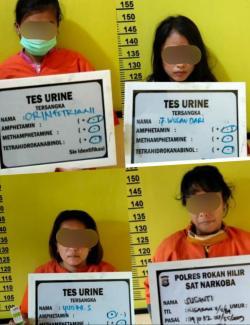 4 Orang Wanita di Bagan Batu Di Ciduk Polis di Duga Jadi Pengedar dan Pemakai Narkotika