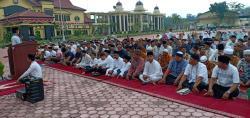 Idul Adha Polres Rohil Qurban 13 Ekor Sapi dan 4 Ekor Kambing