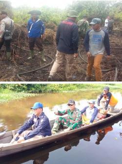 Bupati Rohil, Bersama TNI dan Polri Turun Langsung Padamkan Karlahut