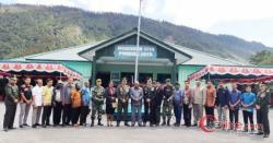 HUT ke-74 TNI di Kab Puncak Jaya Bersama Satgas Pamtas RI-PNG Yonif R 514/SY Khidmat