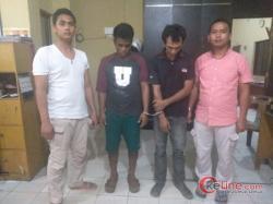 Asik Nyedot Siputih,2 Pria Ditanjungbalai Tak Berkutik Dibuat Polisi