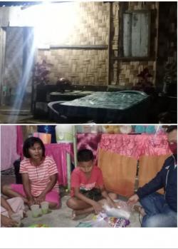 Prihatin Dengan Keluarga Seorang Janda ,Kasubbag Humas Polres Rohil Berikan Bantuan Sembako