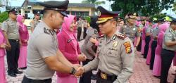 45 Personil Polres Rohil Terima Kenaikan Pangkat Dalam HUT Bhayangkara  Ke -73