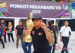 Sekcam Tampan Bangga Atletnya Peroleh Juara Umum Porkot Pekanbaru 2019